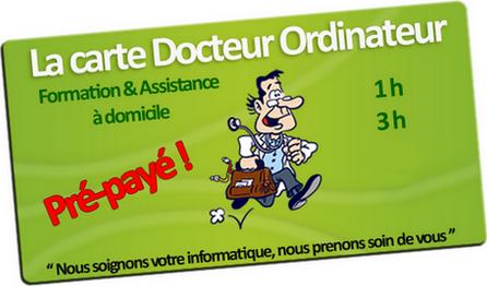 Carte Docteur Ordinateur Pré-payée